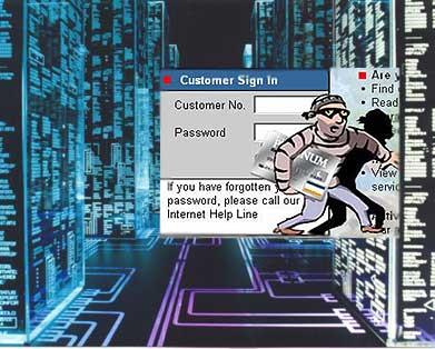 Ladrón informático robando datos ajenos